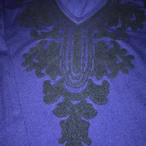 INC International Concepts Tops - Royal Blue INC Embroidered Top